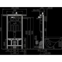 Инсталляция для унитаза Alcaplast AM 102/1120