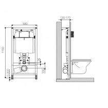Инсталляция для унитаза OLI 74 пневматическая