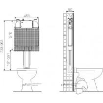 Бачок скрытого монтажа OLI 74 механическая