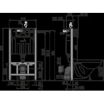 Инсталляция для унитаза Alcaplast AM101/1000