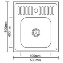 Ledeme L75060 Мойка из нержавеющей стали (матовая)