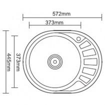 Ledeme L75745-LR Мойка из нержавеющей стали (матовая)
