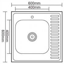 Ledeme L76060-LR Мойка из нержавеющей стали (матовая)