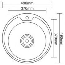 Ledeme L84949-6 Мойка из нержавеющей стали (глянец)