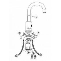 Сенсорный смеситель для раковины с U-образным изливом 9346890