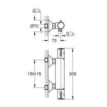 Смеситель термостатический для душа Grohtherm 800 34558000