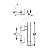 Смеситель термостатический для душа Grohtherm Cube 34488000