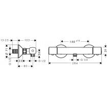 Смеситель термостатический для душа Ecostat Universal 13122000
