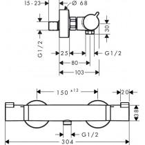 Смеситель термостатический для душа Ecostat Comfort 13116000