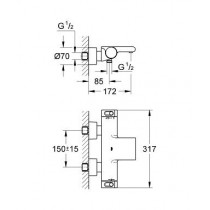 Смеситель термостатический для ванны Grohtherm 200 NEW 34174001