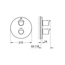 Смеситель термостатический для ванны Grohtherm 2000 NEW 19355001