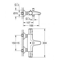 Смеситель термостатический для ванны Grohtherm 800 34567000