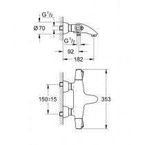 Смеситель термостатический для ванны Chiara 34070000